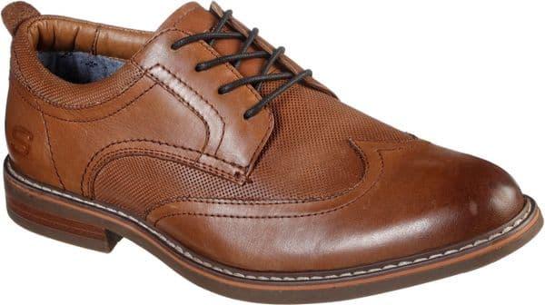 Skechers Bregman Modeso Lace Mens Shoes Cognac